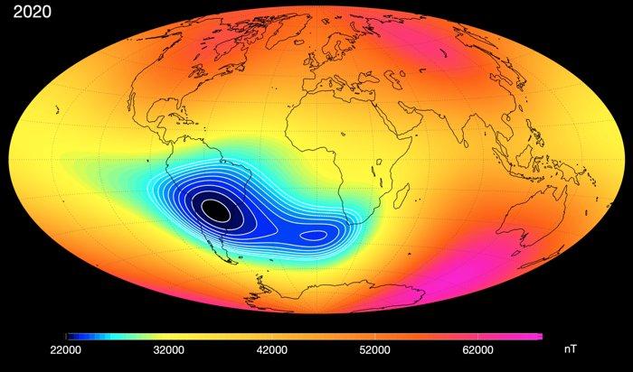 010 anomalia nell'atlantico meridionale della nasa 2